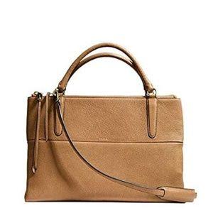 COACH - Borough Bag in Carmel pebbled leather